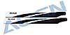 360mm Carbon Hauptrotorblätter, schwarz