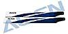 360mm Carbon Hauptrotorblätter, blau