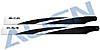 380 Carbon Hauptrotorblätter, schwarz