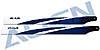 380 Carbon Hauptrotorblätter, blau