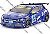 1:10 Karosserie VW Scirocco blau CV-10