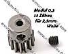 Motor-Ritzel M0,5 14Z, Welle