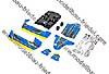 Losi Karosserieset, blau/gelb: Mini 8IGH